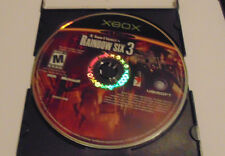 Tom Clancy's Rainbow Six 3 (Microsoft Xbox, 2003) disk only