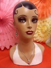 Tribute to Josephine Baker, hand painted mannequin head and shoulders
