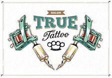 Estudio de tatuajes, Retro, Esmalte, Letrero De Metal Estilo Vintage, 746