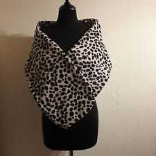 CRUELLA DE VILLE STOLE WRAP SHAWL EVENING LADIES SCARF DALMATIAN  FANCY DRESS