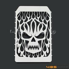 Motorcycle Chrome Skull Flame Radiator Grille Cover For Kawasaki Vulcan VN 1500