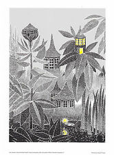 Moomin Poster Light in the Forest Cottage 24 x 30 cm