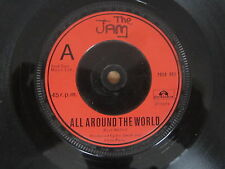 """THE JAM All Around The World / Carnaby Street 7"""" RARE UK RED LABEL PAUL WELLER"""