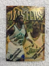 1997-98 Topps Finest Masters Karl Malone Gold Refractor #321 #'d 158/289