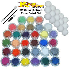 32-10ml DELUXE COLOR FACE PAINTING SET Paint Makeup Kit