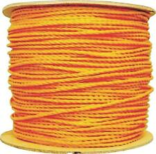 """NEW LEHIGH 14990 YELLOW 1/4"""" X 1200' FOOT SPOOL ROLL POLY HOLLOW BRAID ROPE"""