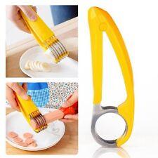 New Banana Slicer Vegetable Fruit Cucumber Cutter Ham Stainless Steel Chopper