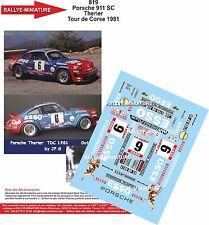 Decals 1/43 réf 819 Porsche 916 SC Therier Tour de Corse 1981