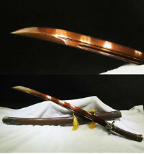 37' ROSEWOOD DAMASCUS FOLDED STEEL BLADE HANDMADE CHINESE MEI HUA SWORD QING DAO