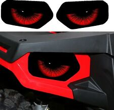 POLARIS HEADLIGHT DECALS STICKER ATV 4 SCRAMBLER SPORTSMAN 850 800 550 400 X2 2
