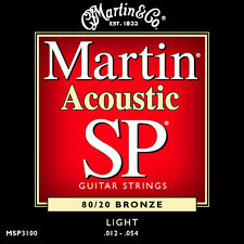 Martin SP Bronce Guitarra Acústica Cuerdas MSP3100 80/20 Light 12 54 VENDEDOR GB