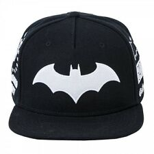 DC COMICS BATMAN SPONSERS 'BAT SYMBOLS, WAYNE ENTERPRISES +' SNAPBACK CAP *NEW