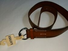 LAUREN RALPH LAUREN EQUESTRIAN BUCKLE LEATHER BELT CUOIO SIZE LARGE