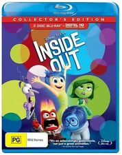 Inside Out (Blu-ray, 2015, 2-Disc Set) - Watched Once