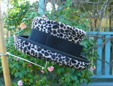 LEOPARD PRINT VINTAGE STYLE LADIES / WOMENS / CHANGELING / 1920s STYLE HAT