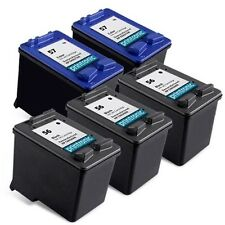 5pk for Hp 56 57 C6656AN C6657AN Black Color Ink Cartridge