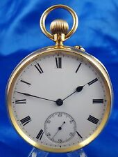 J.E. Brown Plumstead Pocket Watch 18k Gold Working RC Dept. Royal Arsenal #212