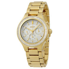 DKNY Chambers Silver Dial Gold-tone Ladies Watch NY2395