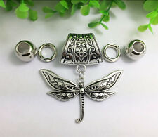 Fashion DIY charms jewelry dragonfly slider scarf pendant set Charms