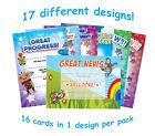 16 A6 Teachers School Nursery Reward Certificates Home Notes Card Children