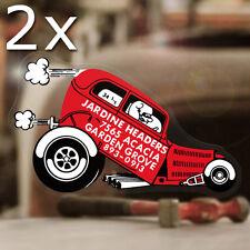 2x Stück Jardine Headers Sticker Hot Rod Flathead Aufkleber Autocollante