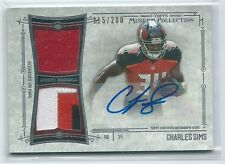 2014 Topps Museum Collection Charles Sims DUAL JERSEY / PATCH RELIC AUTO RC /200