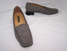 Size 7 tweed textile low heel loafers from Laura Ashley