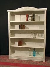 ancien  BIBUS gustavien  bois patiné blanc bibliothèque étagère shabby