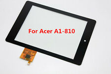 "VETRO+ TOUCH SCREEN ORIGINALE 100% per ACER ICONIA TAB A1-810 8"" A810 DISPLAY"