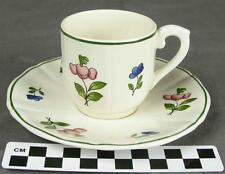 Gien China France Lorraine Rose Demitasse After Dinner Cup Saucer (4 Avail) (HH)