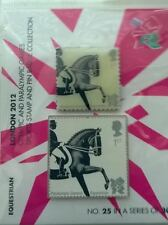 Londra olimpiadi 2012-Equestre servizio Royal Mail 1st class TIMBRO & PIN BADGE PACK