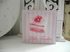 Mille Tart Cake Canvas Cupcake Mural Image Romantic shabby chic French