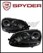 Spyder Volkswagen GTI 06-09/Jetta 06-09 Halogen Model Only - LED Halo DRL Black