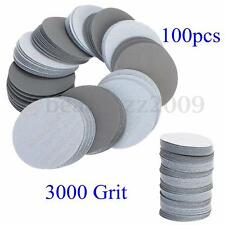 100pcs 3inch(75mm) 3000Grit Sander Disc Sanding Polishing Pad abrasive Sandpaper