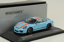 2016 Porsche 911R 911 R 991 Gulf blau orange Streifen 1:43 Minichamps Promo