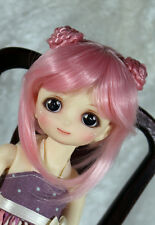 "1/6 5-6"" BJD DOLL WIG LATI TINY TONNER PUKIFEE PINK BUNS BANGS JR28 USA LOC"