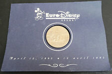 Disney Cast Original Euro Disney Resort Opening Coin 1992 & Envelope
