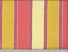 "CORAL STRIPE INDOOR OUTDOOR PRINTED POLY UPHOLSTERY FABRIC 54"" W BTY"