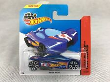 Hot Wheels 2014 #141/250 SLING SHOT blue HW RACE Short Card **FREE UK P&P**