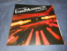 1972 Ford Mustang Mach 1 Full Line Color Brochure Catalog Prospekt