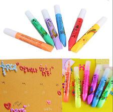 6X Magic DIY Popcorn Colors Pen Graffiti Bubbles 3D Draw Kids Gift School Tools