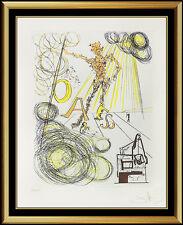 Salvador Dali Color Etching Hand Signed Linotype Da Vinci Authentic Rare Artwork