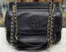 Tory Burch 'Small Marion' Crochet Straw Saddlebag - $450