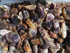 "1 LB BANDED AMETHYST Rough 1"" Rock for Tumbling Tumbler POWER STONES FS"