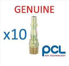 "10 x Genuine PCL 1/4"" Male Adaptor Air Line Fittings"
