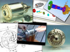 2 Mini Gas Turbine Jet Engine Plans on CD in both CAD & Blueprints + Much More!