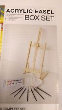 Acrylic Painting Box and Easel Set - 24 Pieces - PACKAGING A LITTLE WORN