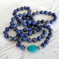 NEW Anthropologie LAPIS LAZULI TURQUOISE Blue Semi-Precious Stone NECKLACE LONG