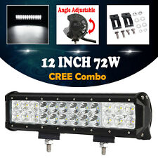 12inch 72W CREE LED WORK LIGHT BAR COMBO SPOT FLOOD DRIVING OFFROAD 4WD SUV LAMP