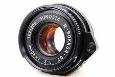 [Exc++++] Minolta M Rokkor QF 40mm f/2 for Leica M Leitz CL CLE From Japan #253